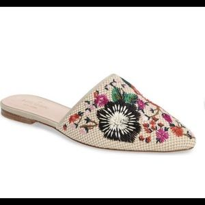 Kate Spade Monteclaire Embroidered Mule - Sz 7.5